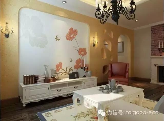 卧室硅藻泥欧式花图片